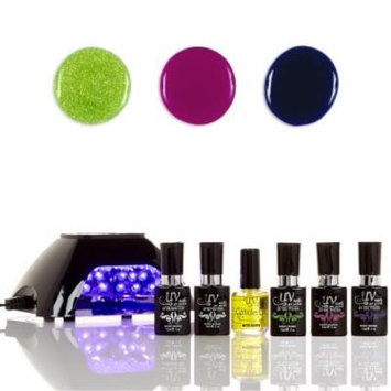 UV-Nails LED Lamp and Gel Nail Polish Starter Kit V10-B-5