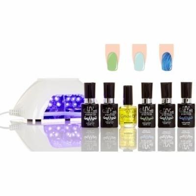 UV-Nails LED Lamp and Gel Nail Polish Starter Kit V10-W-9