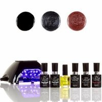 UV-Nails LED Lamp and Gel Nail Polish Starter Kit V10-B-19