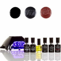 UV-Nails LED Lamp and Gel Nail Polish Starter Kit V10-B-19