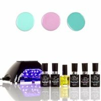 UV-Nails LED Lamp and Gel Nail Polish Starter Kit V10-B-25