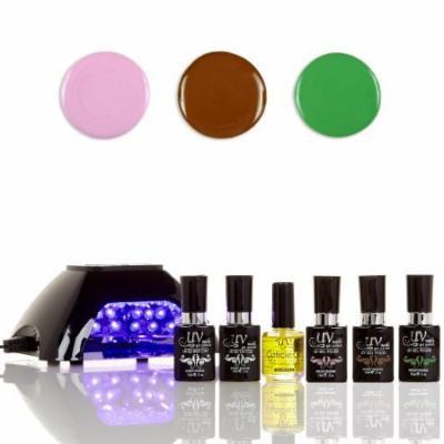 UV-Nails LED Lamp and Gel Nail Polish Starter Kit V10-B-22