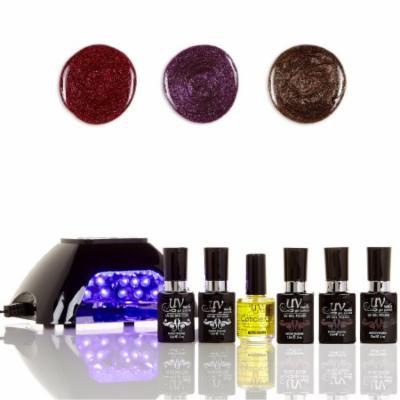 UV-Nails LED Lamp and Gel Nail Polish Starter Kit V10-B-9