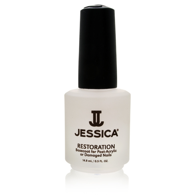 Jessica Restoration Basecoat For Post-Acrylic/Damaged Nails- 14.8ml