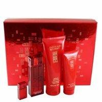 Red Door 4 Pc. Gift Set ( Eau De Parfum Spray 1.7 Oz + Parfum Mini Splash 0.16 Oz + Perfumed Body Lotion 6.8 Oz + Bath & Shower Gel 3.3 Oz ) for Women by Elizabeth Arden