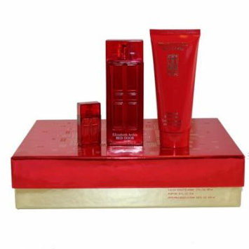 Red Door 3 Pc. Gift Set ( Eau De Toilette Spray 1.7 Oz + Body Lotion 3.3 Oz + Parfum Mini 0.16 Oz ) for Women by Elizabeth Arden