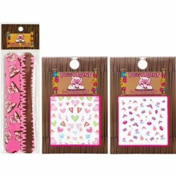 Piggy Paint 3D Princess & Heart Nail Art Gift Set, 3 count
