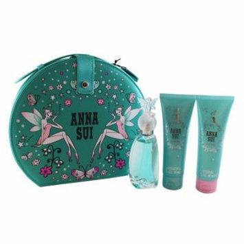 Secret Wish 4 Pc. Gift Set ( Eau De Toilette Spray 1.7 Oz + Body Lotion 3.0 Oz + Shower Gel 3.0 Oz + Bag ) for Women by Anna Sui