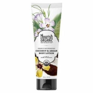 Nourish Organic Body Lotion - Coconut & Argan (8 oz)Â