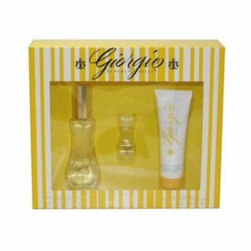 Giorgio Beverly Hills 3 Pc. Gift Set ( Eau De Toilette Spray 1.7 Oz + Eau De Toilette 0.13 Oz + Body Moisturizer 1.6 Oz) for Women by Giorgio Beverly Hills