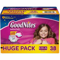 GoodNites Bedtime Pants for Girls, (Choose Your Size)
