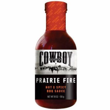 Cowboy 83603 Prairie Fire BBQ Sauce, Hot and Spicy, 18 Oz