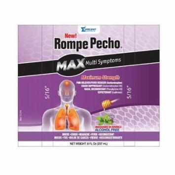 Rompe Pecho Max MultiSymptoms Maximum Strength Cough Syrup, Alcohol Free - 8 oz