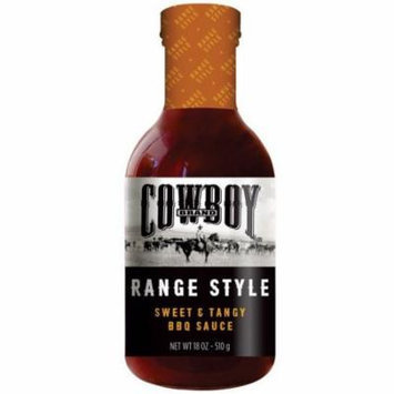 Cowboy 83601 Range Style BBQ Sauce, Sweet and Tangy, 18 Oz