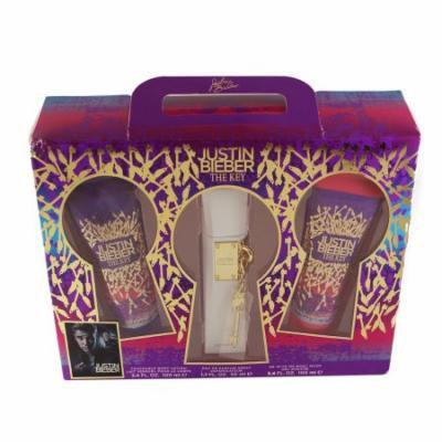 The Key 3 Pc. Gift Set ( Touchable Body Lotion 3.4 Oz + Eau De Parfum Spray 1.7 Oz + Be With Me Body Wash 3.4 Oz ) for Women by Justin Bieber