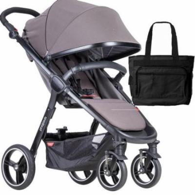 Phil & Teds Smart Buggy Baby Stroller With Diaper Bag - Graphite