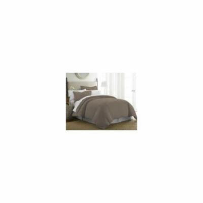 Soft Essentials Premium Ultra Soft 3 Piece Duvet Cover Set (Queen / Full / CalQueen / Full-Taupe)