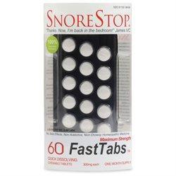 SnoreStop Homeopathic Anti-Snoring FastTabs, 60 ea