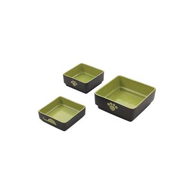 Ethical Pet Products Ethical Pet Four Square Dog Dish 5 Inch Green