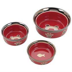 Ethical Pet Ritz Copper Rim Dog Dish