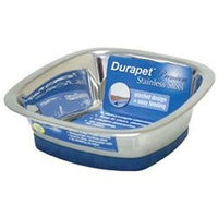 Ourpet S Company Ourpets Company PB-10369 Stainless Steel Durapet Square Bowl Large
