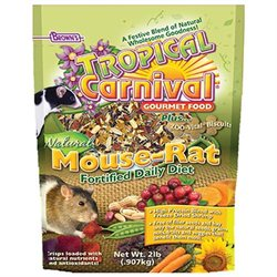F.m. Brown Pet Tropical Carnival Natural Mouse and Rat Food - 2 lbs