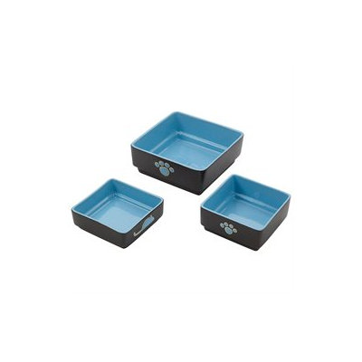 Ethical Pet Products Ethical Pet Four Square Cat Dish Blue