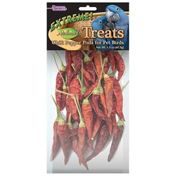 F.m. Brown Pet Extreme Naturals Chili Pepper Pods Bird Treat - 1 oz.