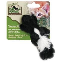 Ourpet S Company Play-N-Squeak Backyard Skunk Cat Toy
