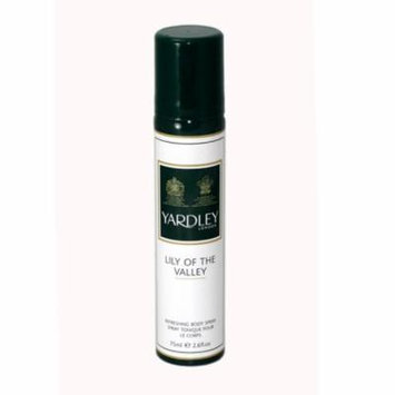 Lily Of The Valley Refreshing Body Spray 2.6 Oz / 75 Ml for Women by Yardley Of London