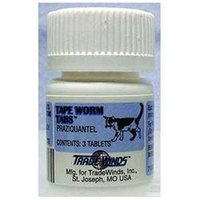 Agri-labs Tape Worm Tabs for Cats and Kittens - 3 Tablets