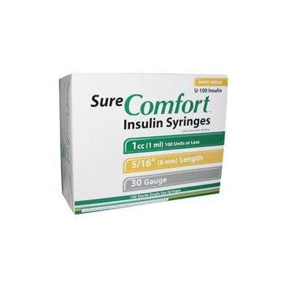 Sure Comfort Insulin Syringes Short Needle 1ml 30 Gauge