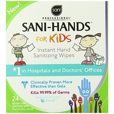 Sani Hands Sani-Hands Instant Hand Sanitizer Wipes, 24-Count Boxes (Pack of 6)