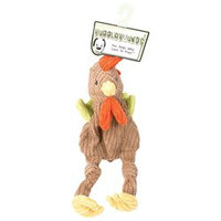 Allure Pet Products Large Rooster Knottie Dog Toy in Multi