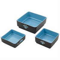 Ethical Pet Products Ethical Pet Four Square Dog Dish 5 Inch Blue