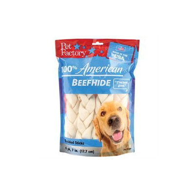American Beefhide Braided Stick Dog Treat