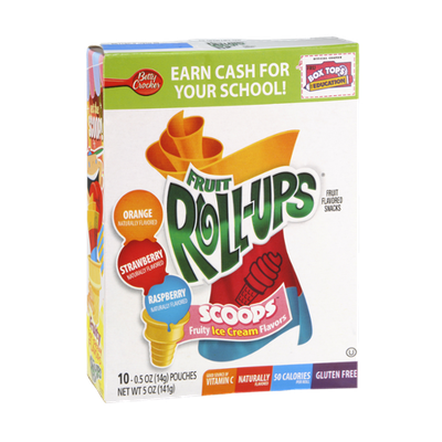 Betty Crocker™ Fruit Roll-Ups™ Fruity Ice Cream Flavored Scoops Snack