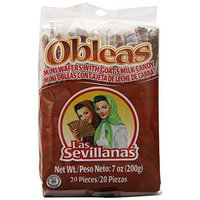 Las Sevillanas Mini Obleas with Cajeta (20 Delicious Wafers with Goat's Milk Candy)