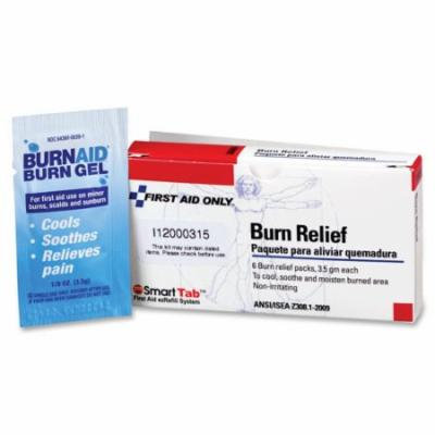 First Aid Burn Relief, 3.5gm, 6/PK FAOAN404