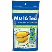 EDEN Mu #16 Tea (herb tea), Reclosable Pouch , 6 Count (Pack of 6)