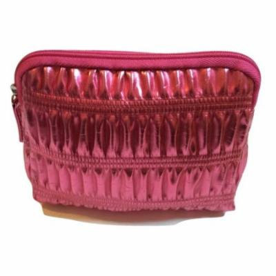 Clinique Pink Foil Look Cosmetic Toiletry Makeup Bag