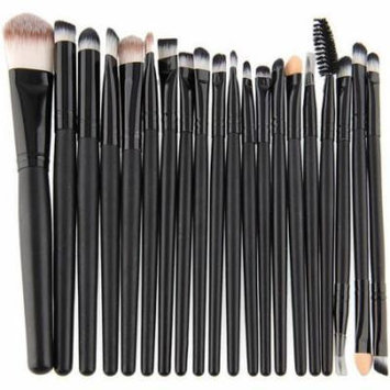 Bliss & Grace Professional Black Make Up Brush Set, 20 pc