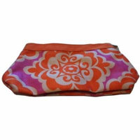 Clinique Orange Purple and White Cosmetic Makeup Bag