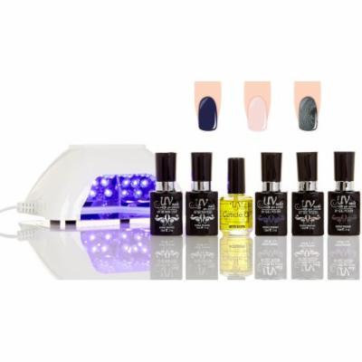 UV-Nails LED Lamp and Gel Nail Polish Starter Kit V10-W-6