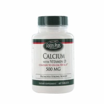 Food Plus Calcium With Vitamin D 500Mg Tablets - 60 Ea