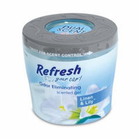 Refresh Your Car 5oz Gel Can, Sun-Kissed Linen/Tiger Lily