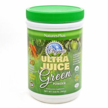 Ultra Juice Green Organic Powder By Nature's Plus - 30 Servings