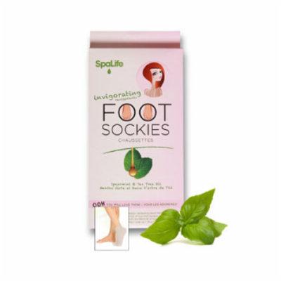 My Spa Life Spearmint + Tea Oil Invigoration Revigorants Foot Sockies - Set of 3