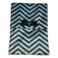 MAC Cosmetics Green and Black Chevron Makeup Cosmetic Bag Pouch