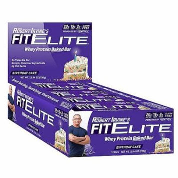 Chef Robert Irvine FortiFX - Fit Elite Baked Protein Bar Birthday Cake - 2.11 oz.